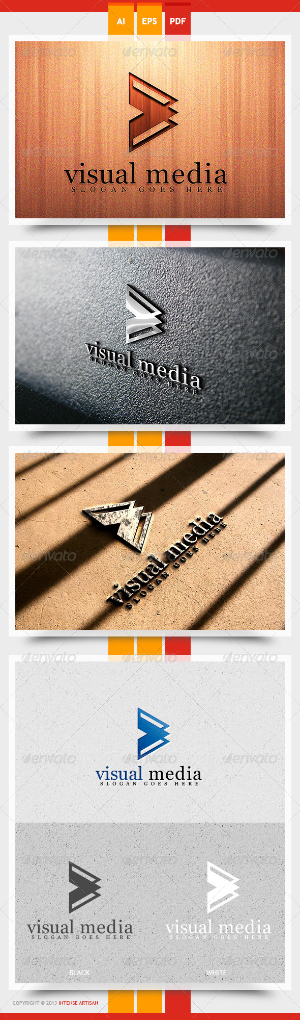 Visual Media Logo Template - Objects Logo Templates