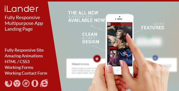 iLander – Responsive Multipurpose App Landing Page
