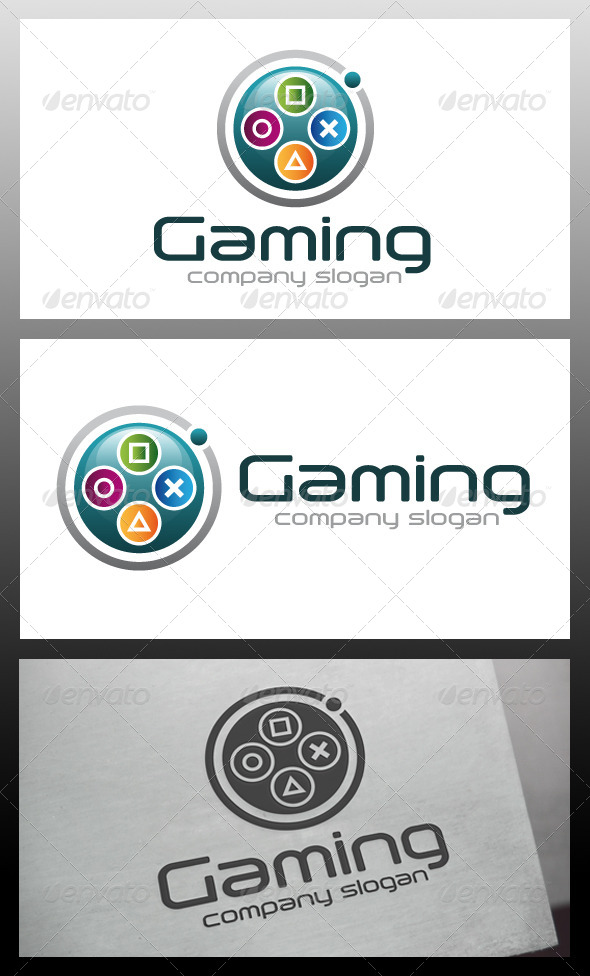 Gaming Logo Template By Bosstwinsart   Graphicriver