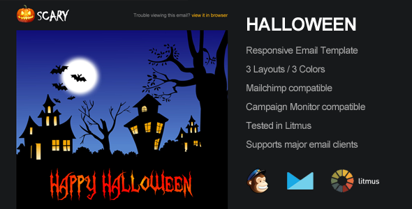 Scary - Halloween Email Campaign Template - Email Templates Marketing