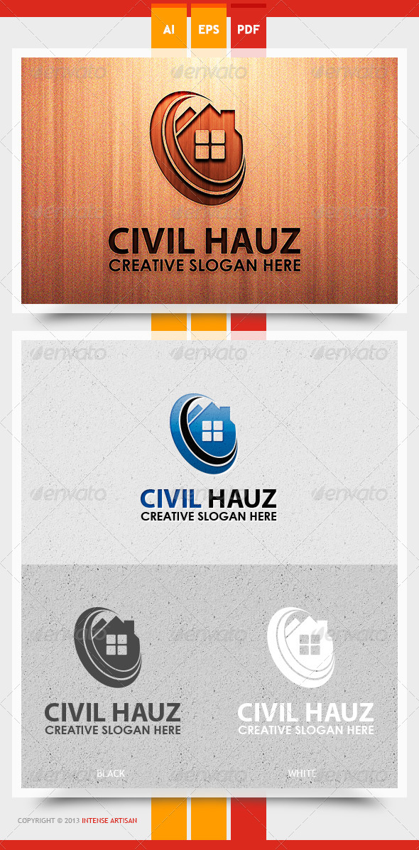 Civil Hauz Logo Template - Buildings Logo Templates