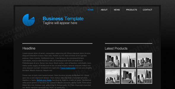 Business Template | Dark & Clean - Business Corporate