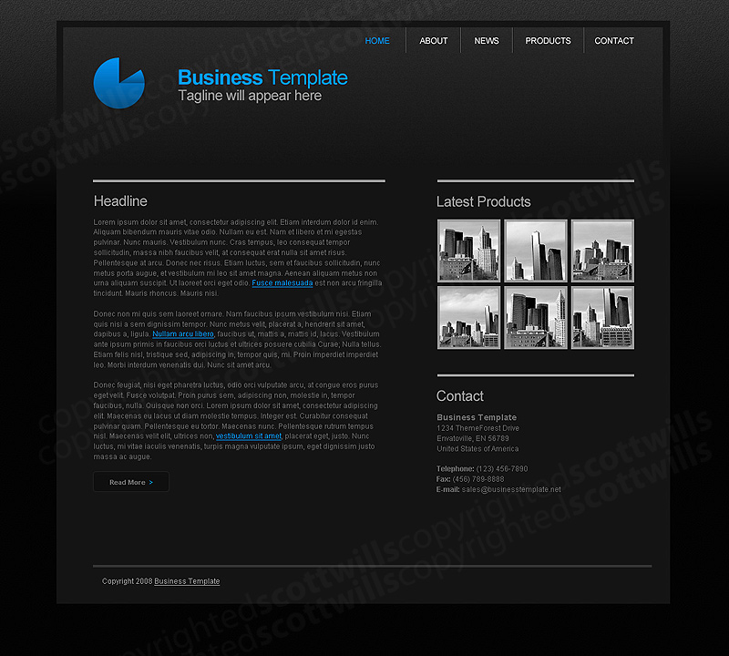 Business Template | Dark & Clean
