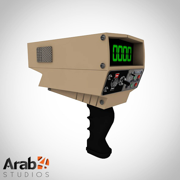 Radar gun - 3DOcean Item for Sale