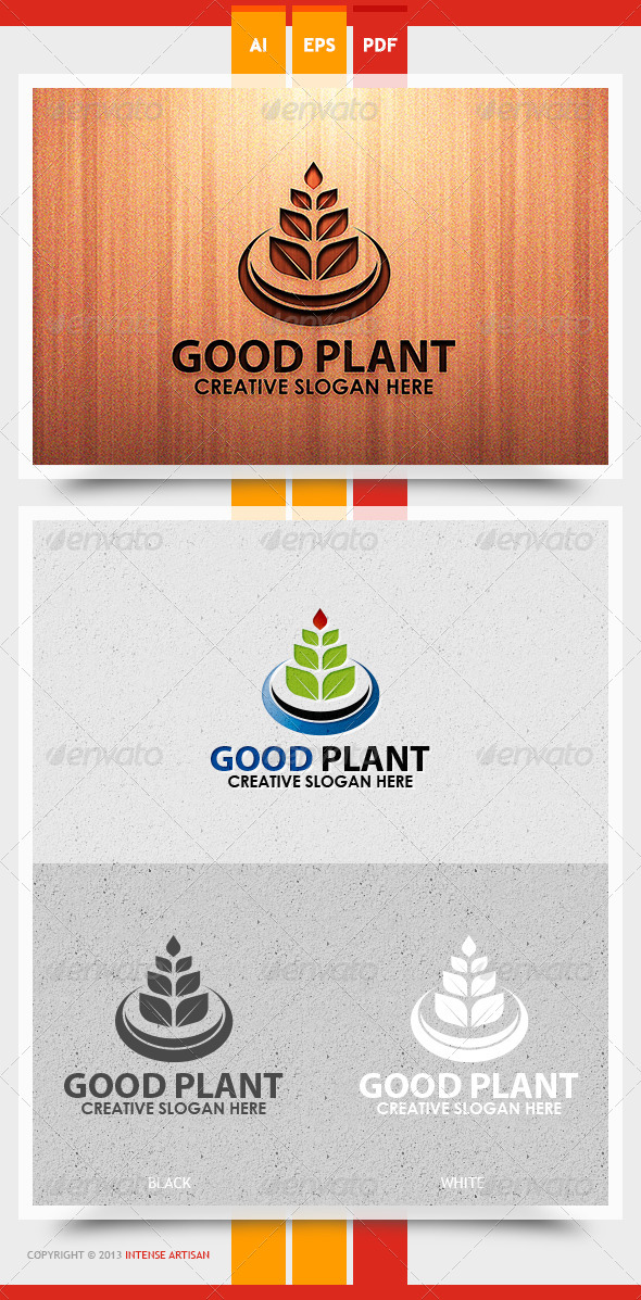 Good Plant Logo Template - Nature Logo Templates