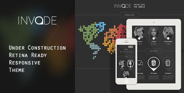 Invade – Responsive Retina Ready Coming Soon Theme