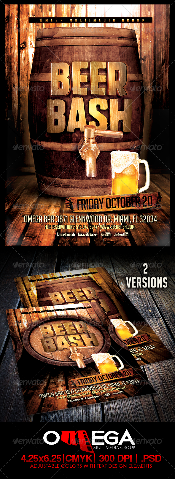 Beer Bash - Events Flyers