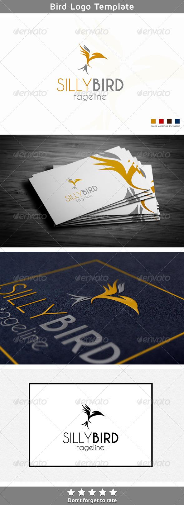 Silly Bird - Animals Logo Templates