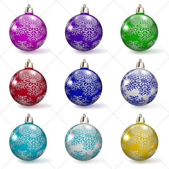 Set of Christmas Balls - Christmas Seasons/Holidays