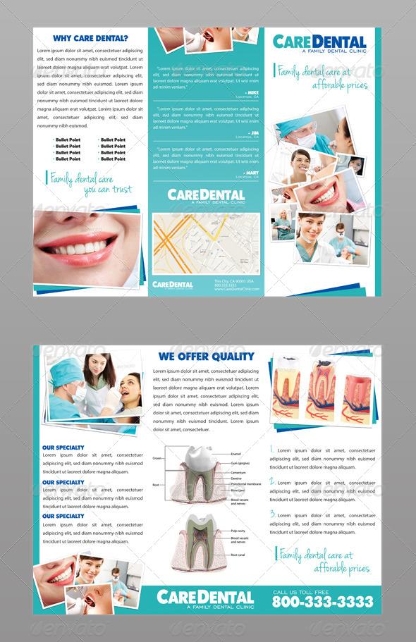 Dental Trifold Brochure By Modernlion Graphicriver