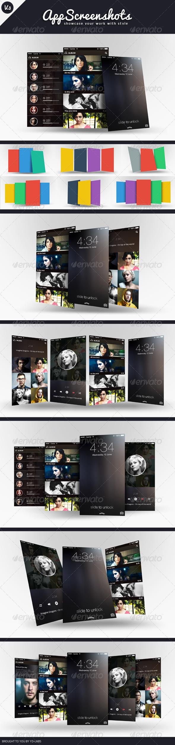 App Screenshot Mockups V3 - Mobile Displays
