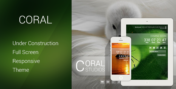 Coral – Responsive Coming Soon Theme