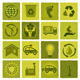 Set of 16 Green Icons - GraphicRiver Item for Sale