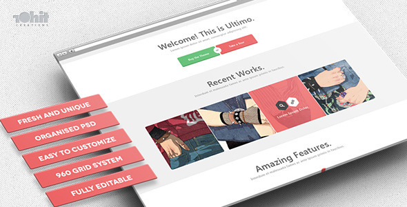 Ultimo – Multipurpose PSD Template