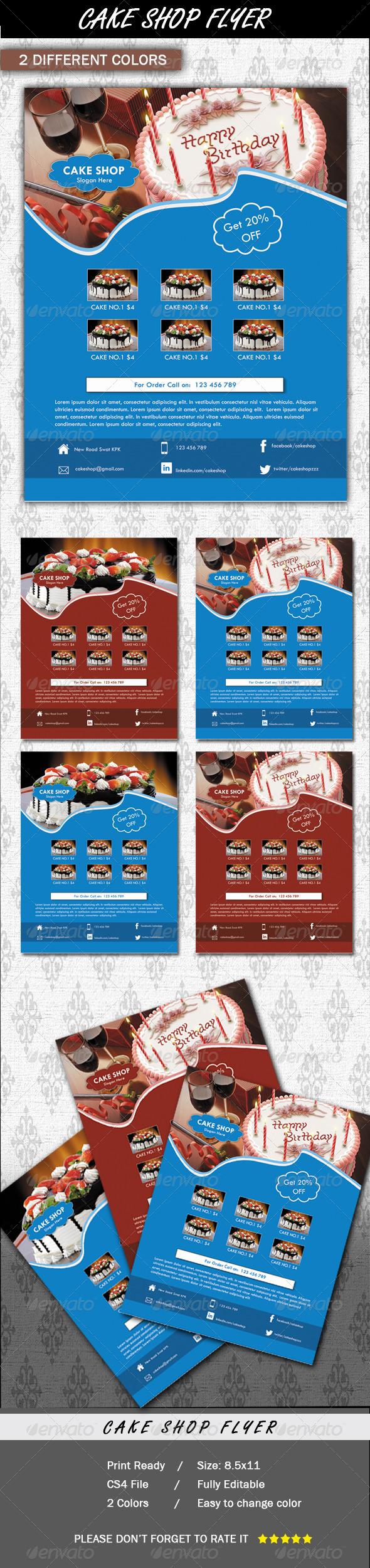 Cake Shop Flyer - Print Templates