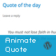 Responsive Animate Quote Rotator WordPress Plugin