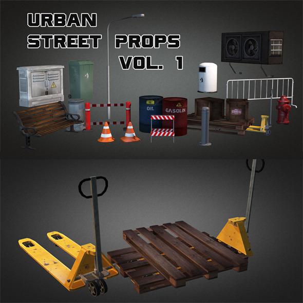 Urban Street Props Vol 1 - 3DOcean Item for Sale