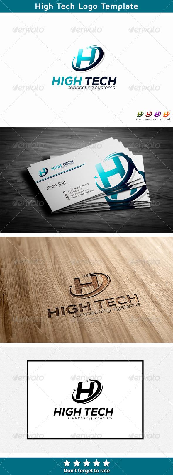 Letter H - Technology Logo - Letters Logo Templates