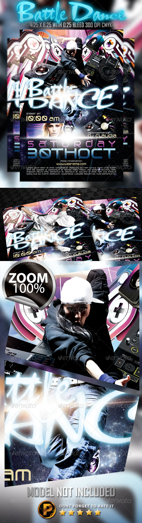 Battle Dance Flyer Template - Clubs & Parties Events