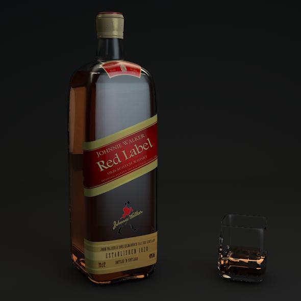 Johnnie Walker Red Label  - 3DOcean Item for Sale