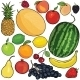 Vector Set of 18 Cartoon Fruits - GraphicRiver Item for Sale