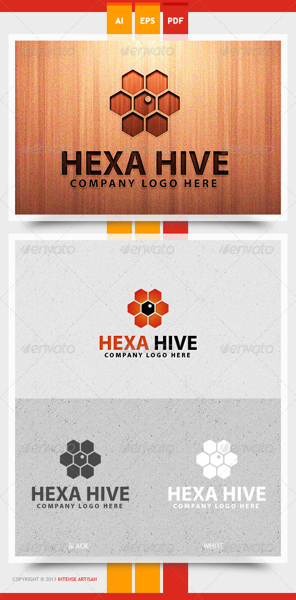 Hexa Hive Logo Template - Objects Logo Templates