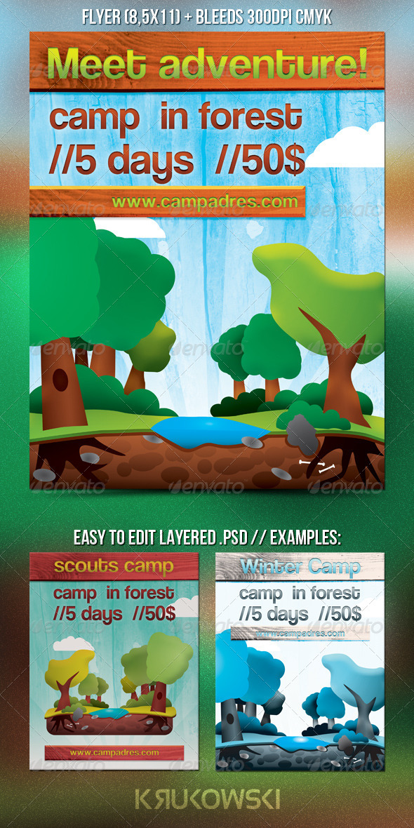 Forest Camp Flyer - Commerce Flyers