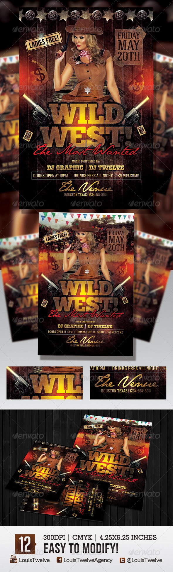 Wild West 2 | Flyer Template - Events Flyers