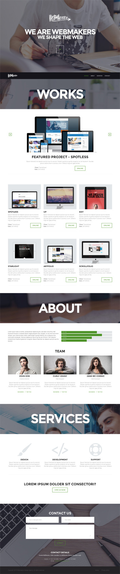 Webmakers - one page WordPress Theme by iWebStudio | ThemeForest