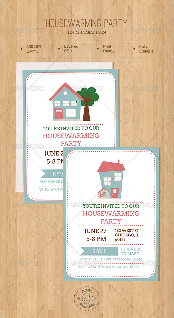 Housewarming Party Invitation - Invitations Cards & Invites