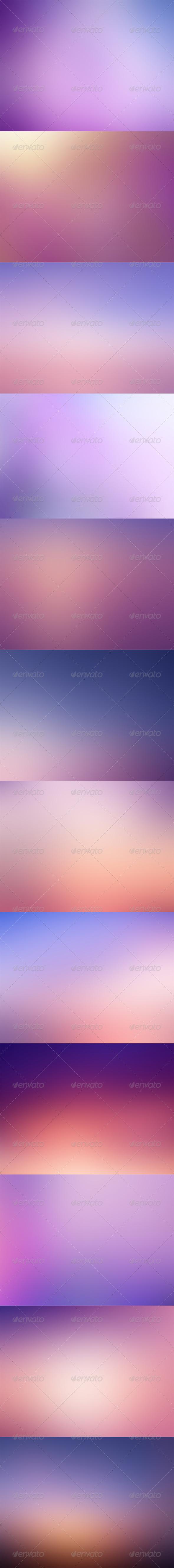 12 Purple Backgrounds - HD