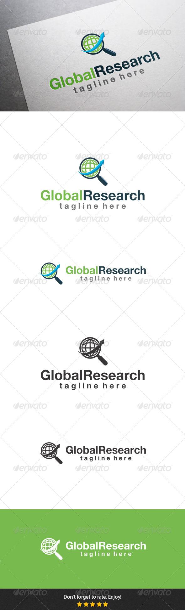 Global Research Logo - Symbols Logo Templates