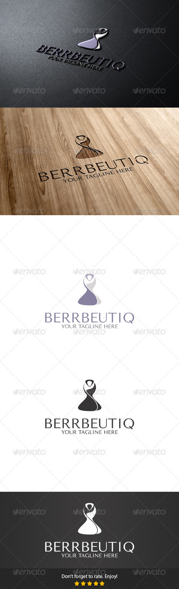 Berrbeutiq Logo - Abstract Logo Templates