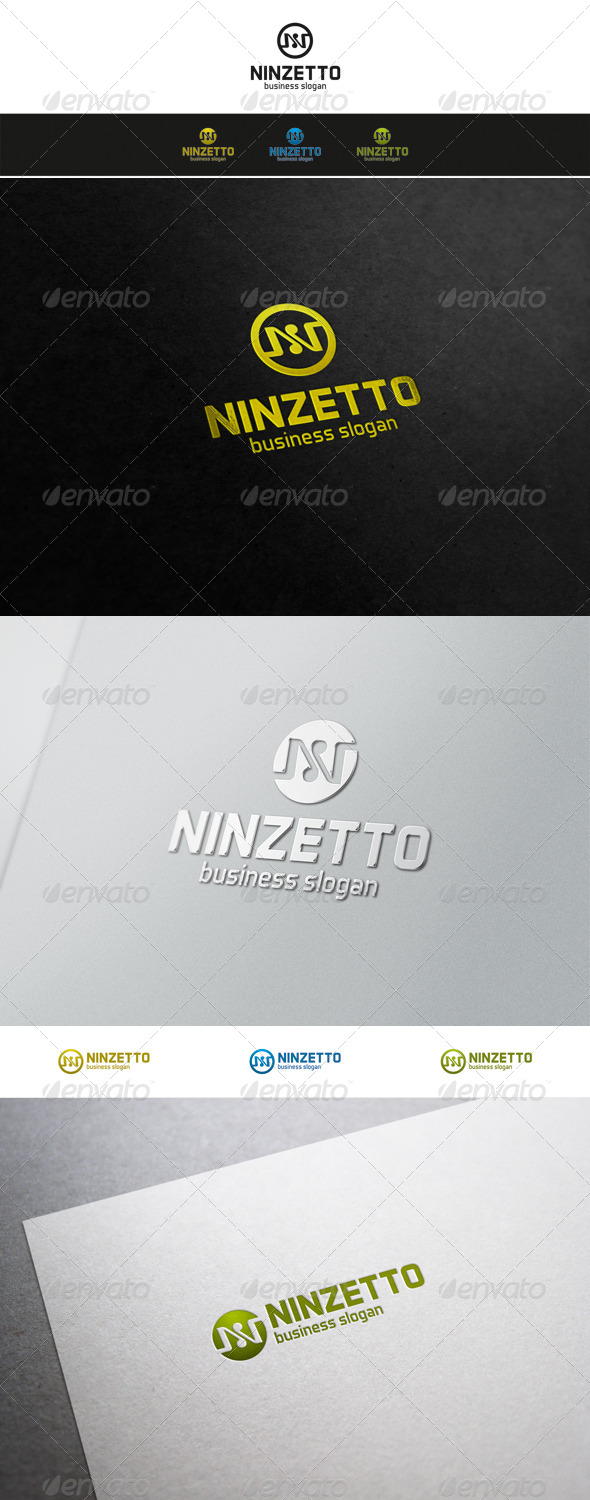 N Logo - Ninzetto Brand - Letters Logo Templates