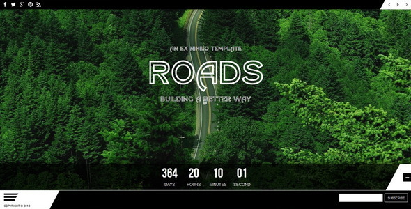 Roads || Responsive Coming Soon Page - Under Construction Specialty Pages