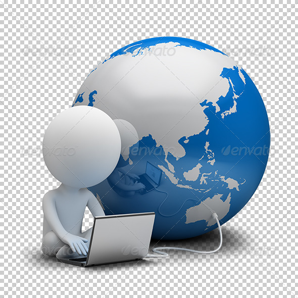 3d small people - global communication - Characters 3D Renders