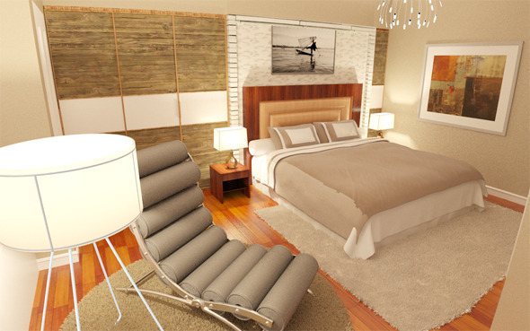Interior design / Bedroom / Bathroom - 3DOcean Item for Sale