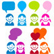 Communication People Icon Set - GraphicRiver Item for Sale