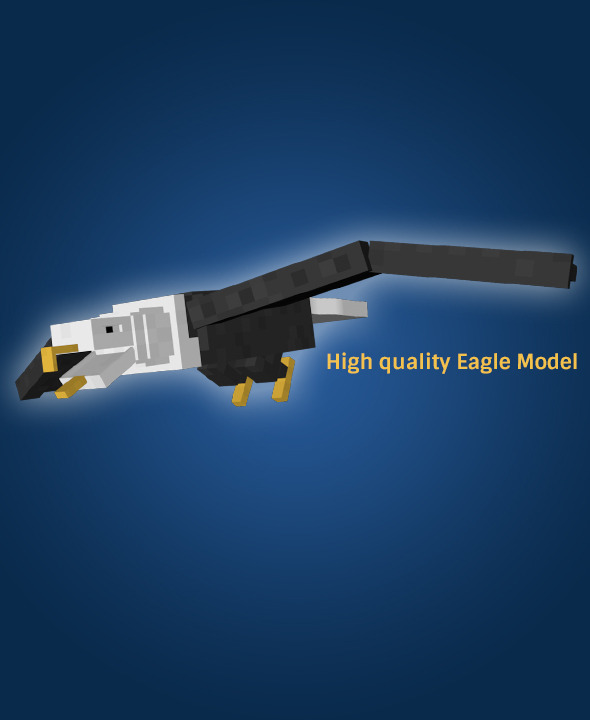 Cubic Eagle Model  - 3DOcean Item for Sale