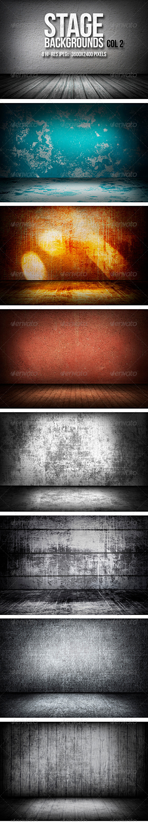Stage Backgrounds Col 2 - 3D Backgrounds