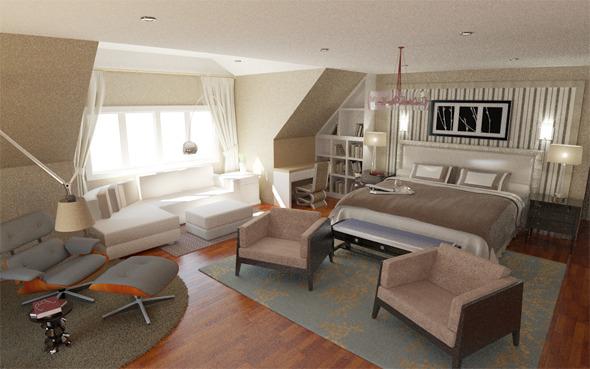 Interior / Bedroom - 3DOcean Item for Sale