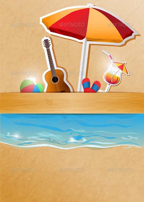 Beach Party Banner by kovacevic | GraphicRiver