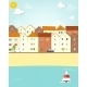 Houses on the Waterfront - GraphicRiver Item for Sale