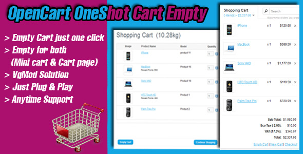 opencart oneshot cart empty - CodeCanyon Item for Sale
