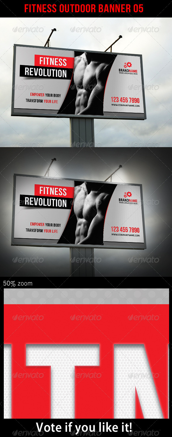 Fitness Outdoor Banner 05 - Signage Print Templates