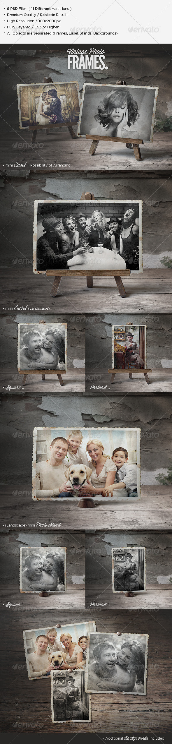 Premium Vintage Photo Frames - Miscellaneous Photo Templates