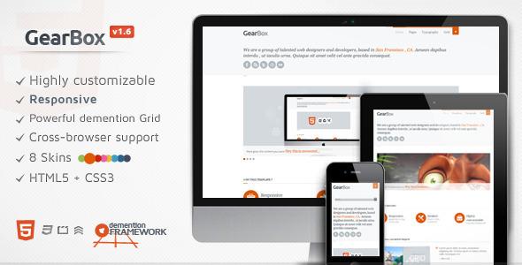 GearBox – Modern, Responsive, Adaptable Framework