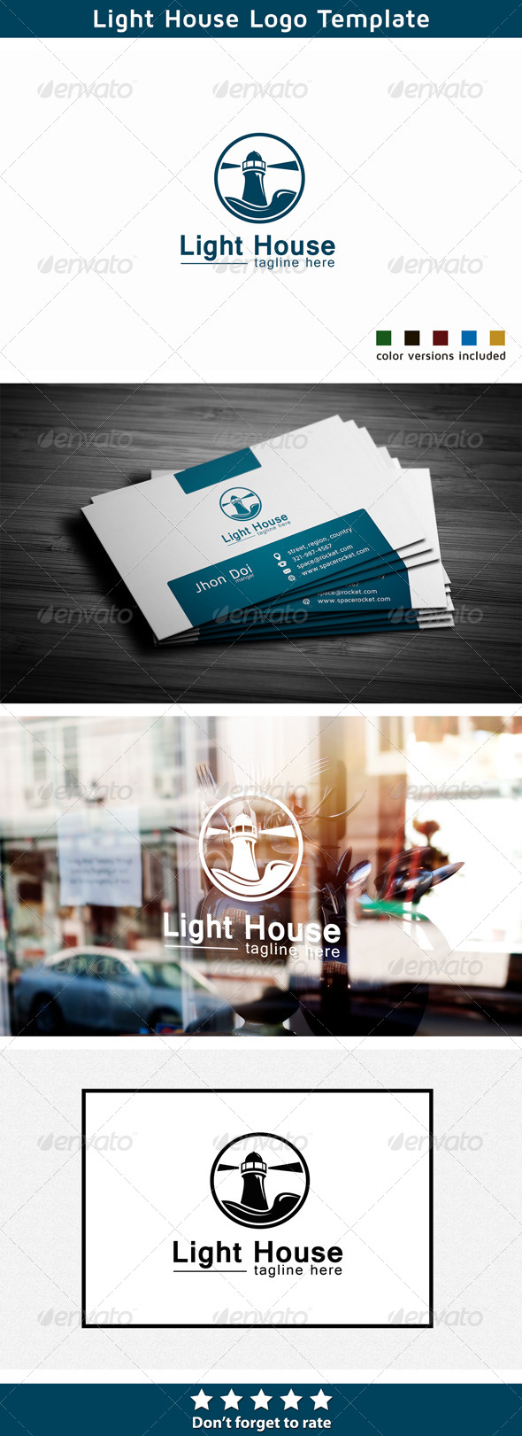 Lighthouse Logo - Church - Buildings Logo Templates