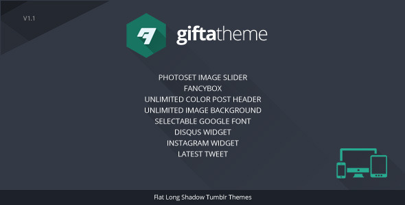 Gifta – Flat Long Shadow Tumblr Theme