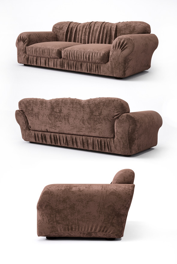 High quality sofa with pleats - 3DOcean Item for Sale